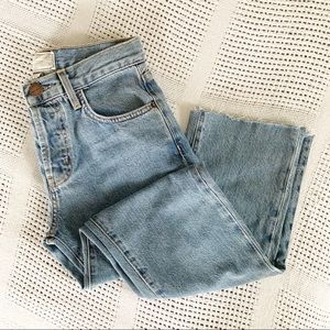 CURRENT / ELLIOTT | Straight Raw Hem Jeans Sz 23